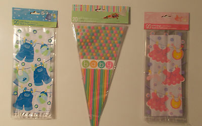 20 Baby Shower Cello Party Gift Loot Favour Bags