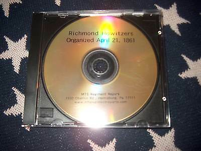Civil War History of The Richmond Howitzers on CD