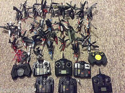Lot of Air Hog/Propel/Atom 1 31 Helicopters 10 Transmitters AS IS FAST SHIPPING