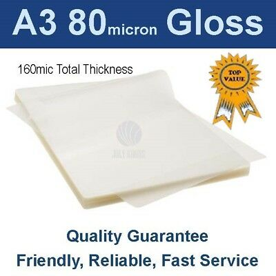 A3 Laminating Pouches Film  80 Micron Gloss (PK 100)