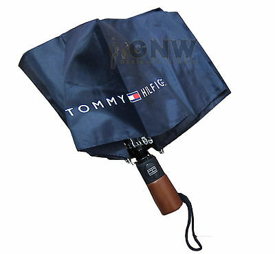 Tommy Hilfiger Small Umbrella Small Flag Light Weight Navy Blue Unisex Bnwt