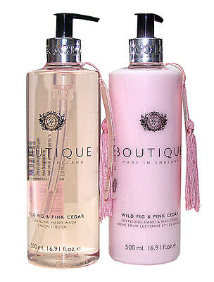 Boutique WILD FIG & PINK CEDAR 2 tlg. Hand Wash & Pflegeset - NEU/OVP