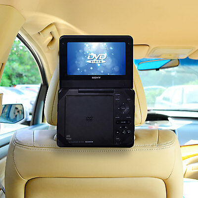 """Car Headrest Mount Holder for 7"""" Standard Portable DVD Player by TFY"""