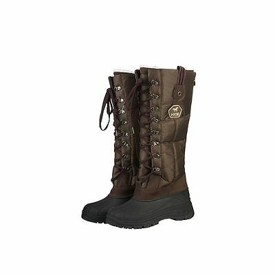 HKM Winter Lace Up Thermo Lined Long Muck Riding Walking Boots - Siberia -