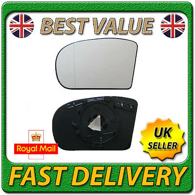 Plate Flat Left Passenger Wing Mirror Glass For Renault Trafic 2001-14 Heated