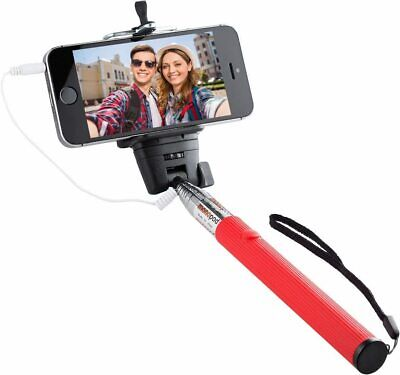 Cable Monopod with Remote Shutter Button Telescopic Extendable Holder iPhone