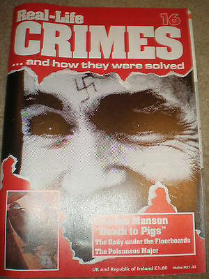 Real Life Crimes and How They Were Solved Issue 16 Charles Manson Sharon Tate