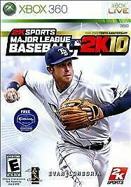 Microsoft XBox 360 Game MAJOR LEAGUE BASEBALL 2K10 - Disc & Manual Only