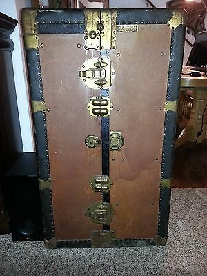 Early Multnomah 1900's Portland Oregon massive antique wardrobe trunk