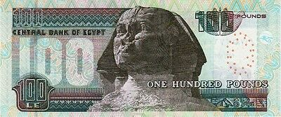 Egyptian one hundred Pounds Uncirculated Banknote Egypt.