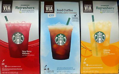STARBUCKS Via Refreshers Instant Energy Drink Mix Flavor Choices Pick One