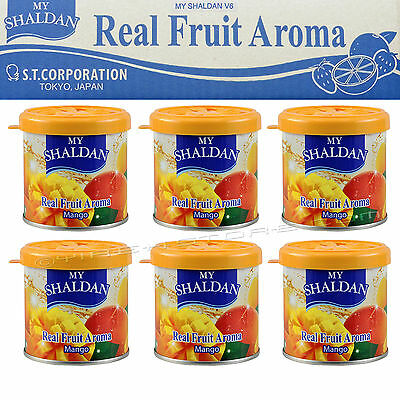 6 CAN MY SHALDAN MANGO SCENT AIR FRESHENER 80gr/2.8oz/can V6