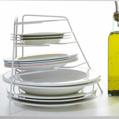 NEW Corner Cupboard Plate Stacker 4 Tier for Pantry and Kitchen