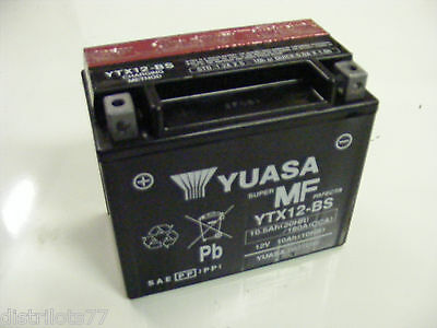 batterie moto scooter quad YUASA YTX12-BS