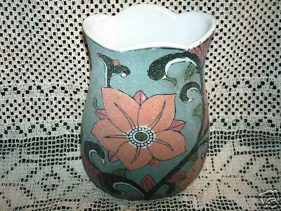 Chic Vintage VASE URN RITZY Art Deco TEXTURED Abstract SAND Painting Art