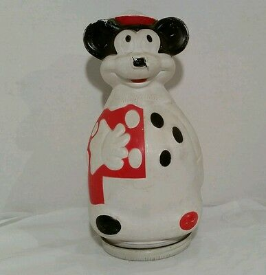1966 Mickey Mouse Piggy Bank Nabisco Puppets Wheat Puffs Cereal Promo Container