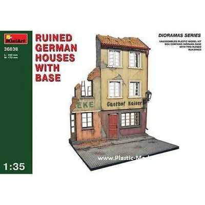 Ruined German Houses W/base Diorama Buildings 1/35 Miniart 36038