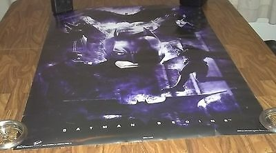 """Batman Begins Move Poster Never 23"""" X 35"""" Never Hung Up In Fn+ Christian Bale"""