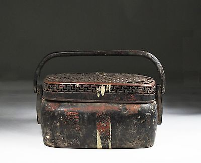 A Chinese Beautiful Antique Bronze Hand Warmer With Mesh Detail Cover