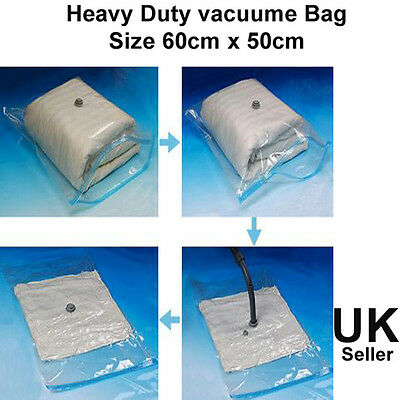 Heavy Duty Large Vacuum seal storage bag space saving cloths travel reusable vac