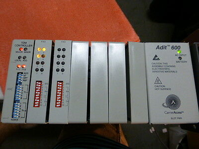 Carrier Access  Adit  600 Unit w/ 2 FXS Cards, TDM Controller & Power Supply