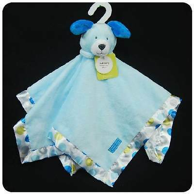 New/NWT~CARTERS~SECURITY BLANKET~BLUE PUPPY DOG~BABY BOYS~PLUSH TOY~POLK A DOT