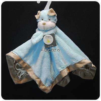 New/NWT~CARTERS~SECURITY BLANKET~BLUE PUPPY DOG~BABY BOYS~PLUSH TOY~NEWBORN & UP