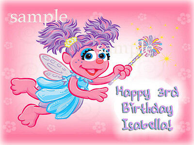 ABBY CADABBY Edible Photo CAKE Image Icing Topper Decoration FREE SHIPPING