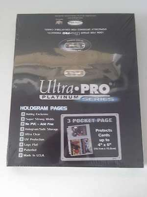 Ultra Pro 100 ct Lot 3 Pocket 4x6 Card Protective Pages NIP New Protector