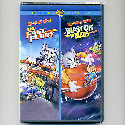2 Tom & Jerry animated kids G movies, new DVD, Fast & Furry, Blast Off To Mars