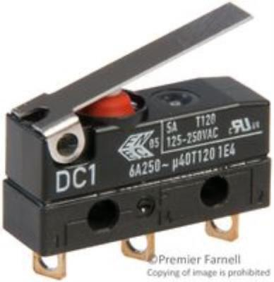 New Brand No.46F5543 Cherry Dc1c-A1lb Micro Switch, Hinge Lever, Spdt, 5a 250v