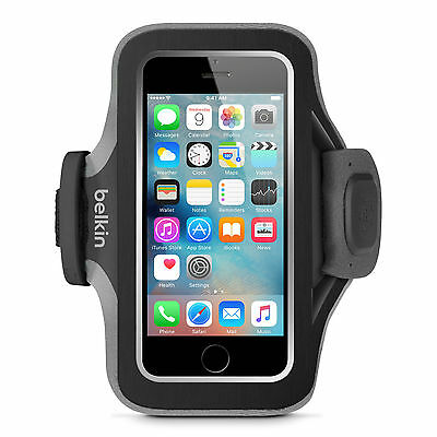 Belkin Slim Fit Armband for iPhone SE 5 5s 5c iPod touch 5th Black F8W299vfC00