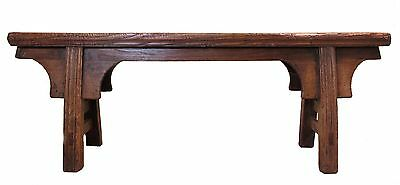 A Chinese Antique Beautiful Wooden Forever Love Long Bench Stool Light color