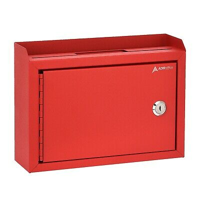 """AdirOffice Deluxe Steel Suggestion Key Drop Box with Locking Top 9.75"""" x 7"""" x3"""""""