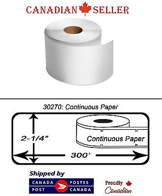 12 Rolls Dymo 30270 Compatible 300' POS Thermal Printer Receipt Paper 62mm Label