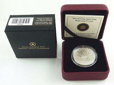 Royal Canadian Mint 2011 Canada $10.00 .999 Fine Silver Maple Leaf Forever Coin