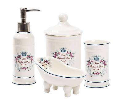 Accessori bagno padronale set in ceramica completo bagno for Accessori bagno in ceramica