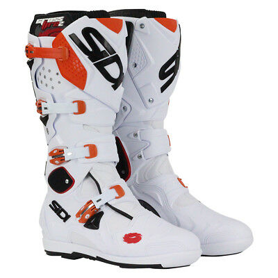 Sidi NEW Mx Crossfire 2 SRS EU White Orange KTM Adult Motocross Dirt Bike Boots