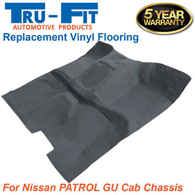 To suit Nissan GU Patrol UTE Y61 Moulded Rubber Vinyl Flooring Front and Rear