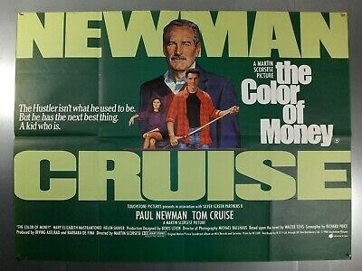 The Color Of Money - Paul Newman / Tom Cruise - Original Uk Quad Movie Poster
