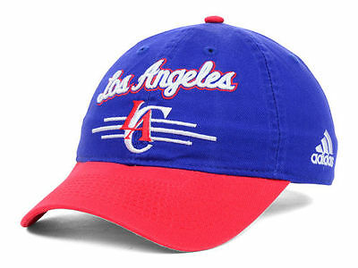 6b6a226da75 Los Angeles Clippers Adidas 2 Tone NBA Basketball Slouch Adjustable Cap Hat