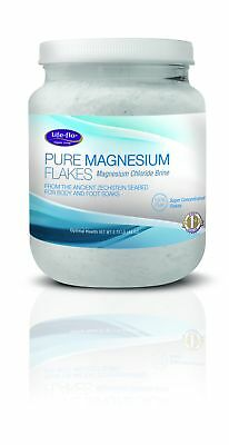 Life Flo Pure Magnesium Flakes Super Concentrated 44oz 100% Pure Body & Foot Soa