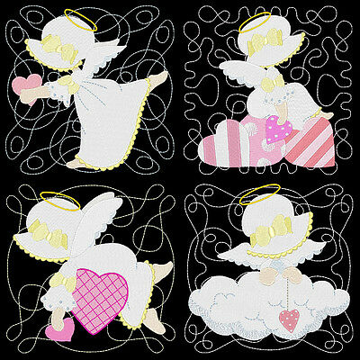Angels Luv Sunbonnets - 36 Machine Embroidery Designs (Azeb)