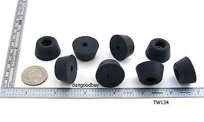 "8 Tapered Hard Rubber Bumpers  ""Feet"" 1"" Diameter - With Embedded Washers 1 Inch"