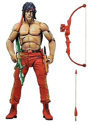 """First Blood Part II - 7"""" Action Figure Rambo Classic Video Game Appearance NECA"""