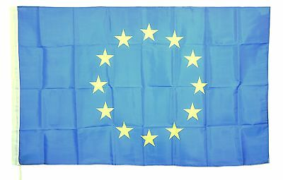 BANDIERA DELL' EUROPA EUROPEAN FLAG UE UNIONE COMUNITA' EUROPEA NEW cm 90 x 150
