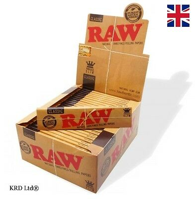 RAW Classic KING SIZE SLIM Tobacco Rolling Papers Smoking Kingsize Paper Rizla