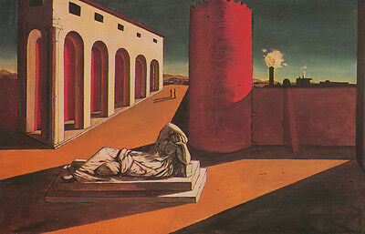 Giorgio de Chirico The Red Tower Giclee Canvas Print Paintings Poster