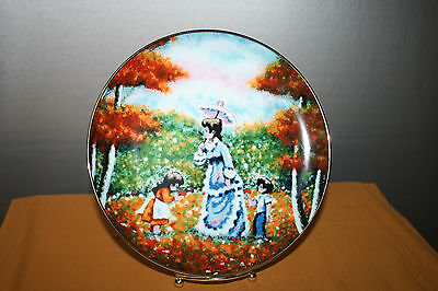 Fall Flowers Collector Plate Impressions of Yesteryear Royal Cornwall porcelain