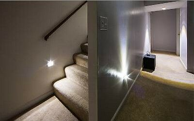 1 Stair Lighting Auto Silver 6 LED Light AUTOMATIC MOTION SENSOR, Save Bill Gift